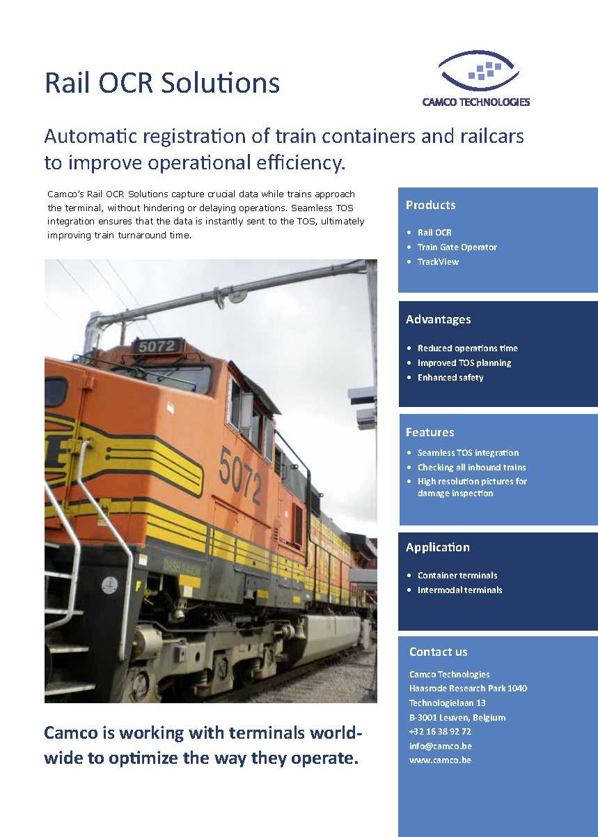 Rail OCR brochure cover